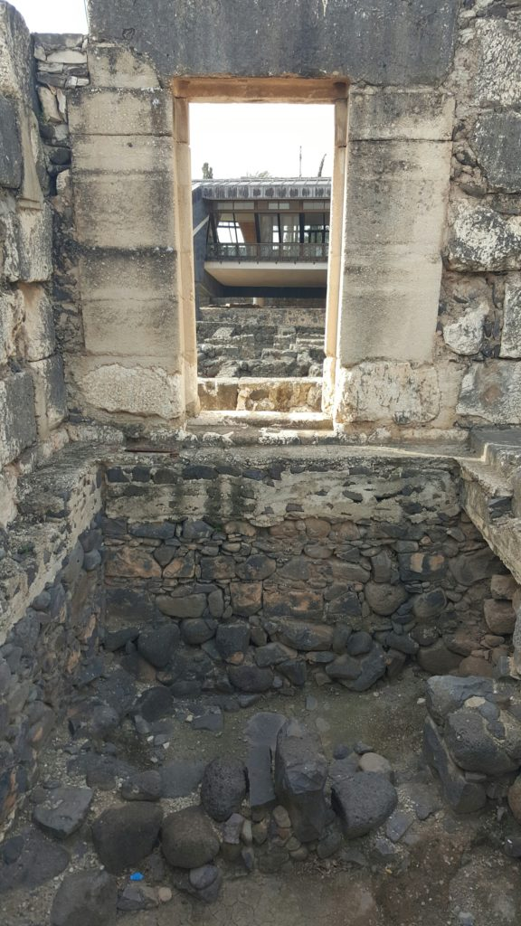 Foundation for synagogue in Capernaum